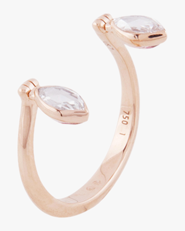 Swinging Diamond Open Ring