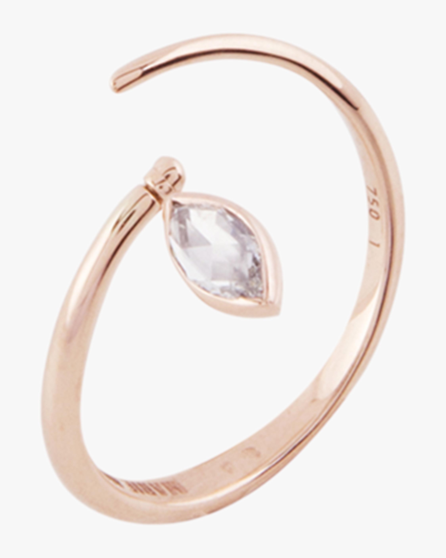 Swinging Diamond Spiral Ring