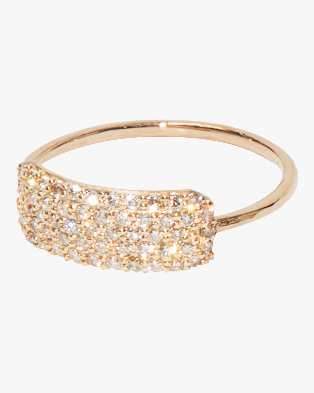 Diamond Studded Tag Ring