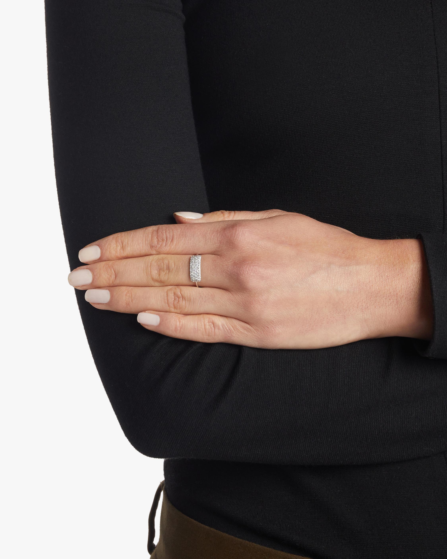 Diamond Studded Tag Ring Sophie Ratner