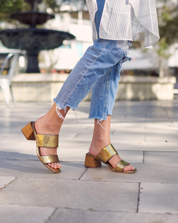 Bri Metallic Sandal