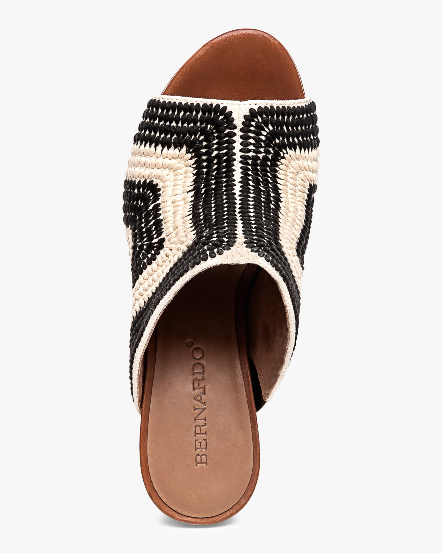Noelle Embroidered Crochet Mule Bernardo