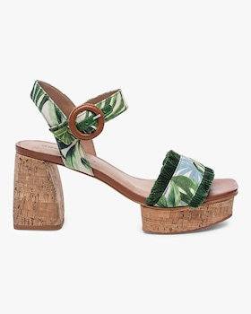 Reagan Palm Fabric Platform Sandal
