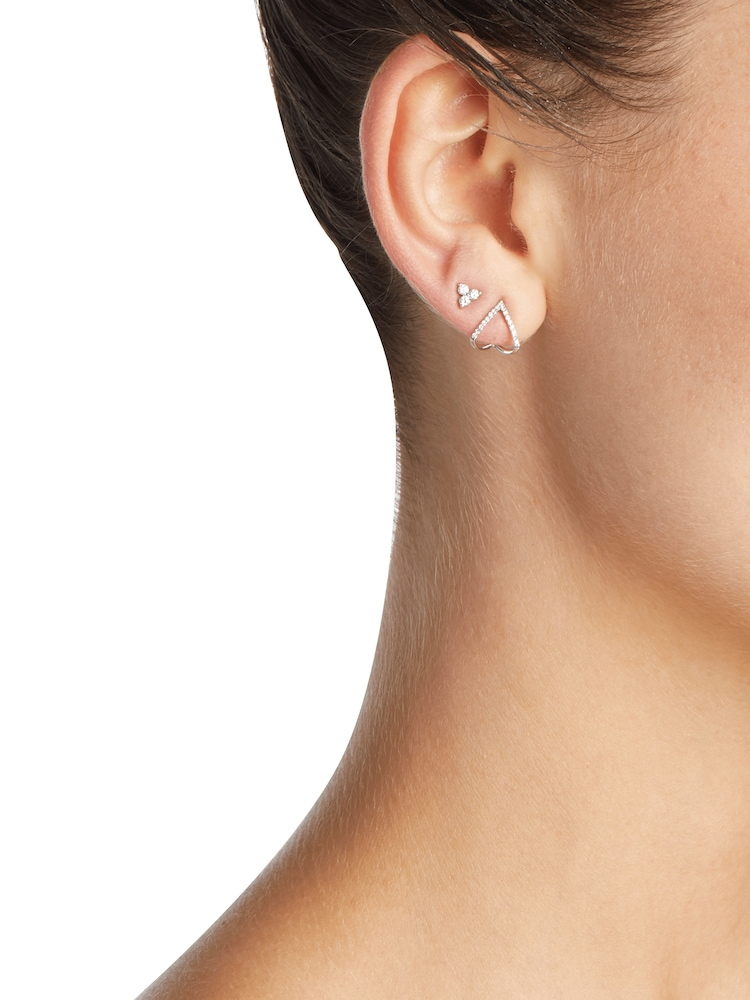 Diamond Trio Stud Earrings EF Collection