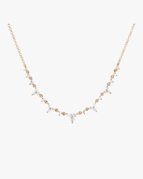 Diamond Trio Tiara Necklace
