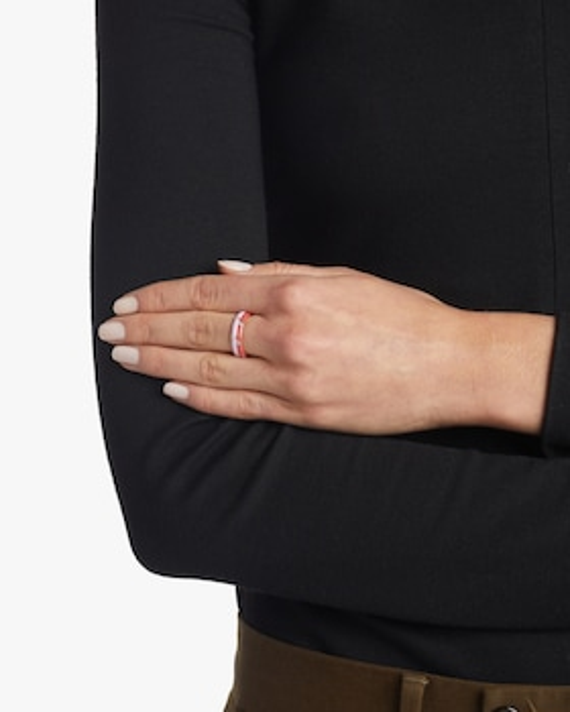 Three Diamond Enamel Stack Ring