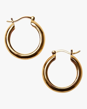Large Gold Mood Hoop Earrings