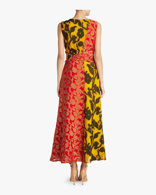 Shar Cutout Ruffle Front Dress Prabal Gurung