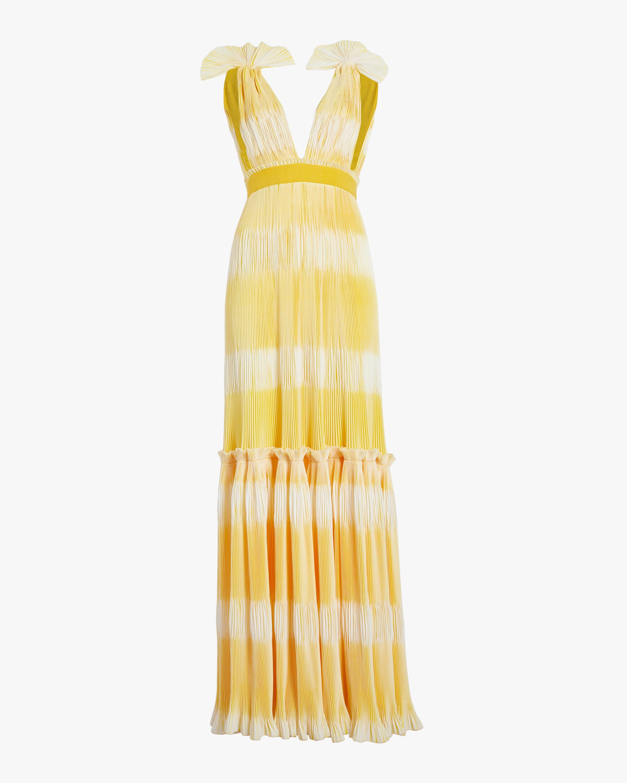 Tadia Plisse Gown