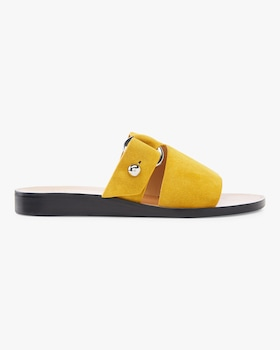 Arc Flat Suede Slide