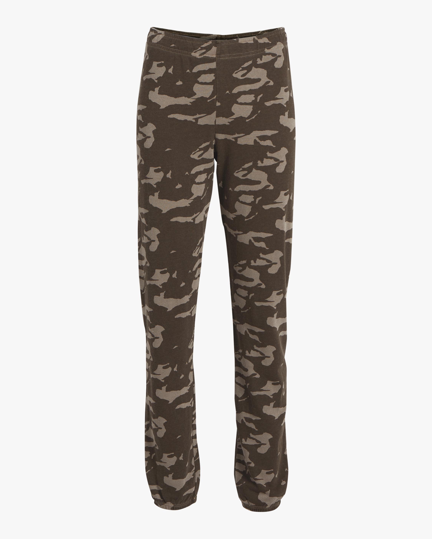 Two Tone Camo High Waisted Sweatpants