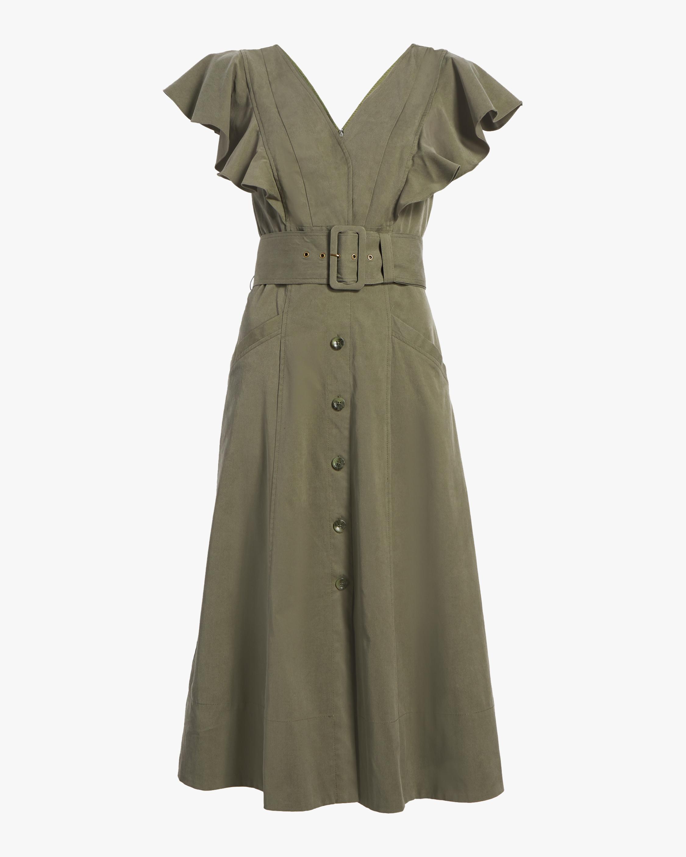Inez Belted Midi Dress