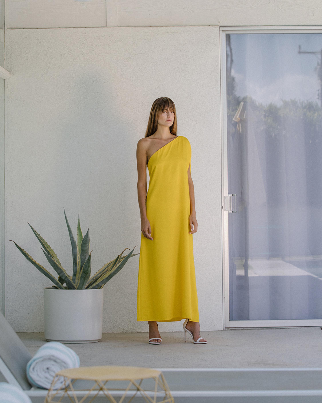 Gloria One Shoulder Maxi Dress