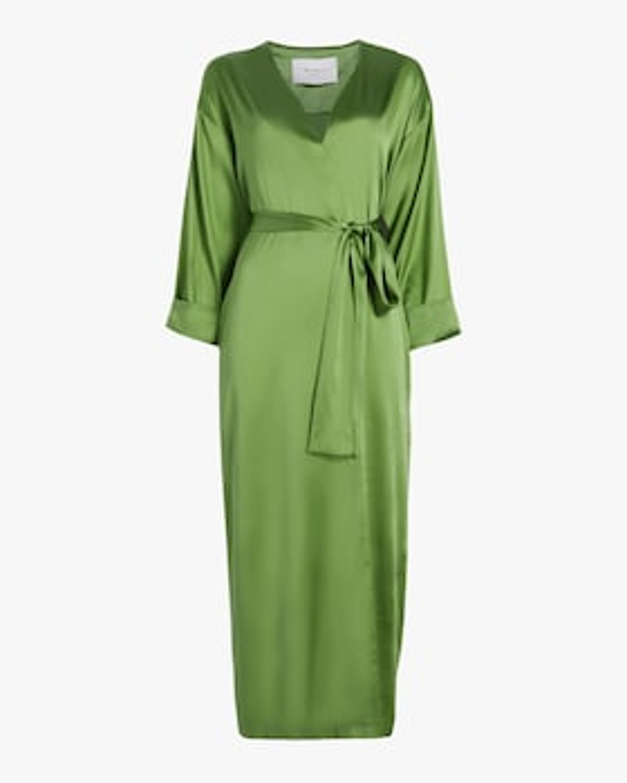 Kim Palm Silk Belted Robe