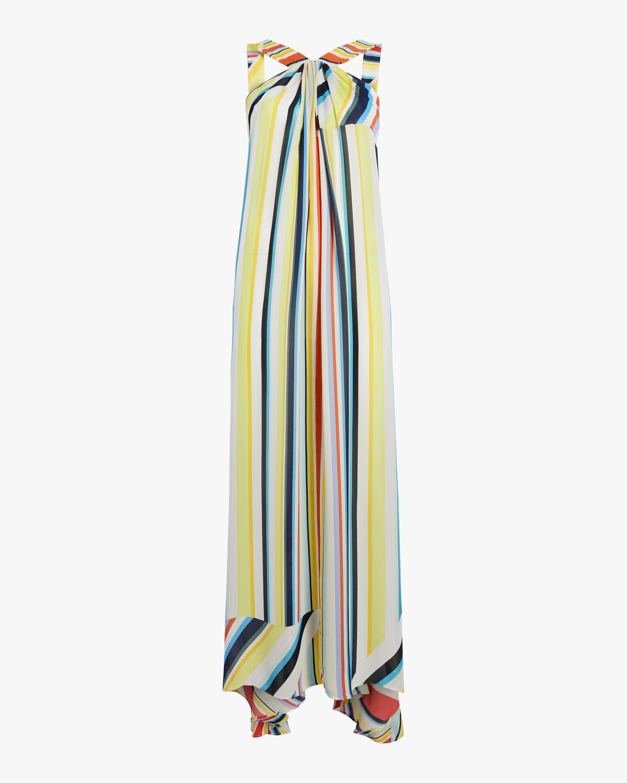 Column Rainbow Stripe Maxi Dress