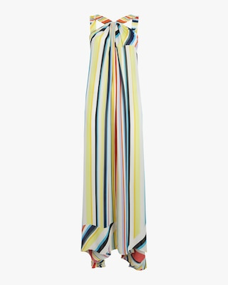 Column Rainbow Stripe Maxi Dress