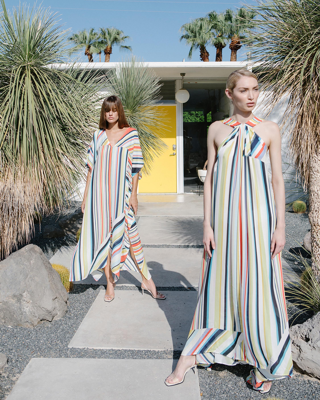 Carolina Rainbow Stripe Kaftan