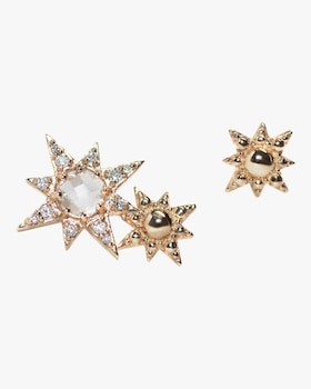 Double Starburst Stud Earrings