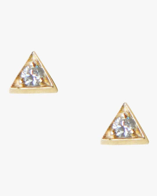 Anzie Cleo Triangle Stud Earrings 0