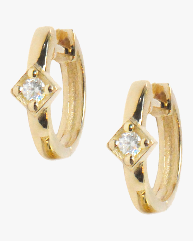 Anzie Cleo Round Huggie Earrings 2