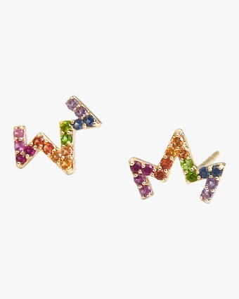 Aztec Zig Zag Stud Earrings