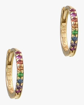 Multicolor Mini Huggie Earrings