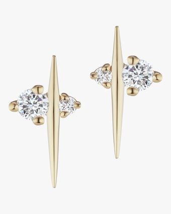 Diamond Thread Stud Earrings