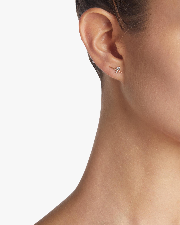 Diamond Thread Stud Earrings