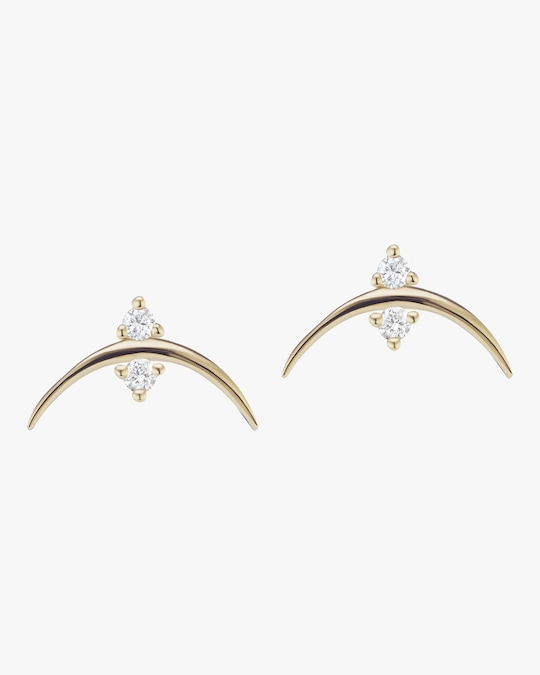 Sophie Ratner Crescent Stud Earrings 0