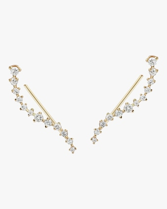 Sophie Ratner Diamond Swell Ear Climbers 1