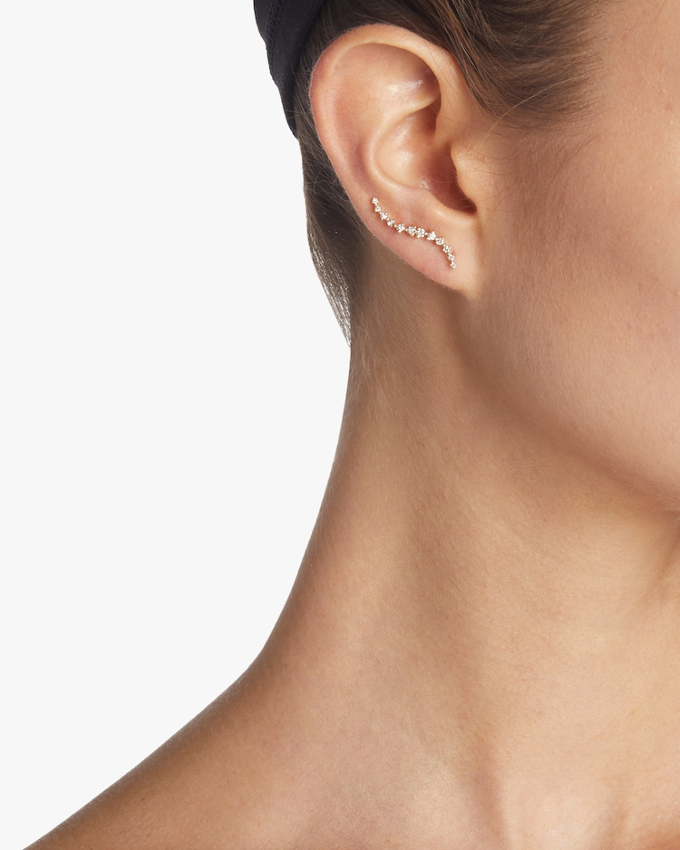 Diamond Swell Ear Climbers Sophie Ratner