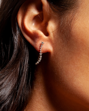 Sophie Ratner Diamond Swell Ear Climbers 2