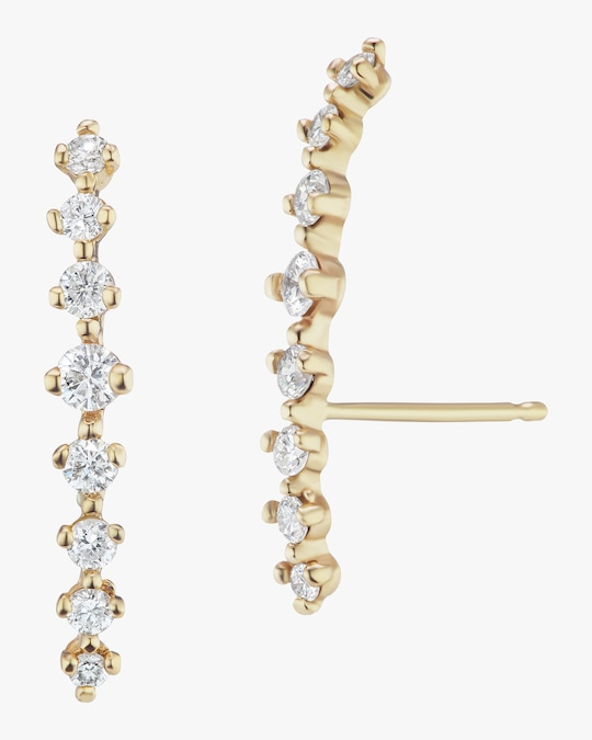 Sophie Ratner Silhouette Diamond Climber Earrings 0