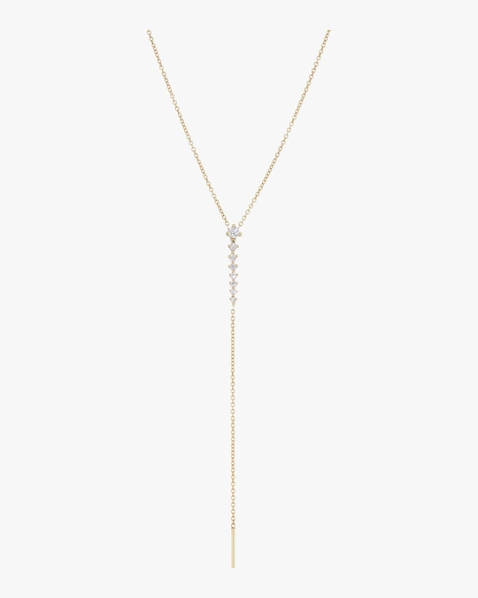 Sophie Ratner Spine Drop Lariat Necklace 0