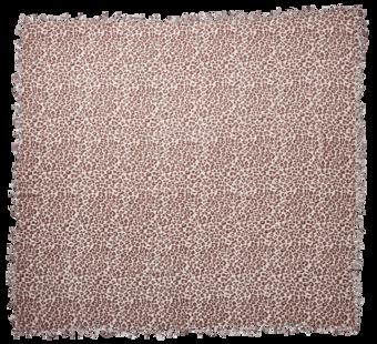 Leopard Print Cashmere Silk Scarf