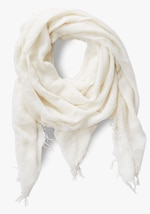 Chan Luu Solid Color Cashmere Silk Fringe Scarf 0