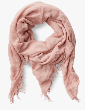 Solid Color Cashmere Silk Fringe Scarf