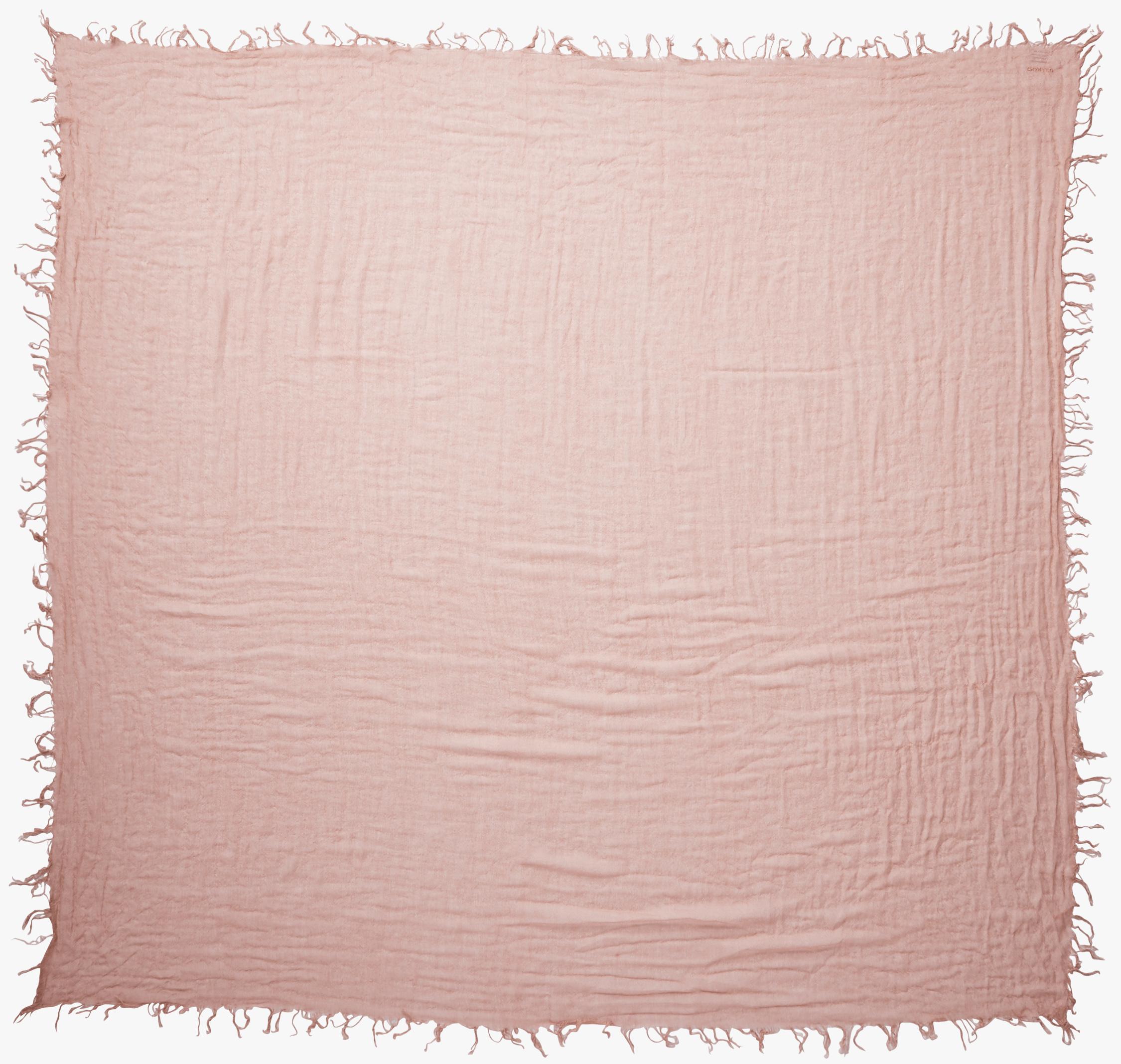Chan Luu Solid Color Cashmere Silk Fringe Scarf 1