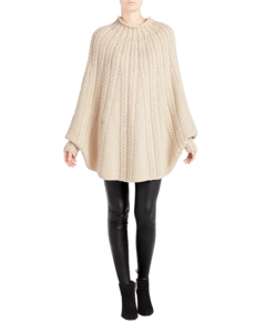 Kitt Cable Cashmere Poncho image two