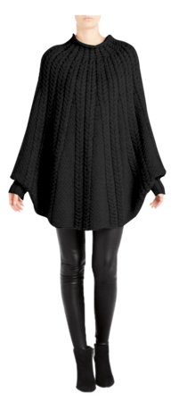 Kitt Cable Cashmere Poncho