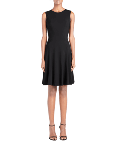 Crewneck Fit and Flare Dress image two