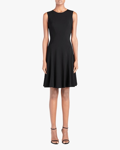 Crewneck Fit and Flare Dress