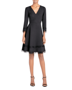 Longsleeve Fit and Flare Lace Dress image two