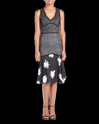Knit Dress with Chiffon image two