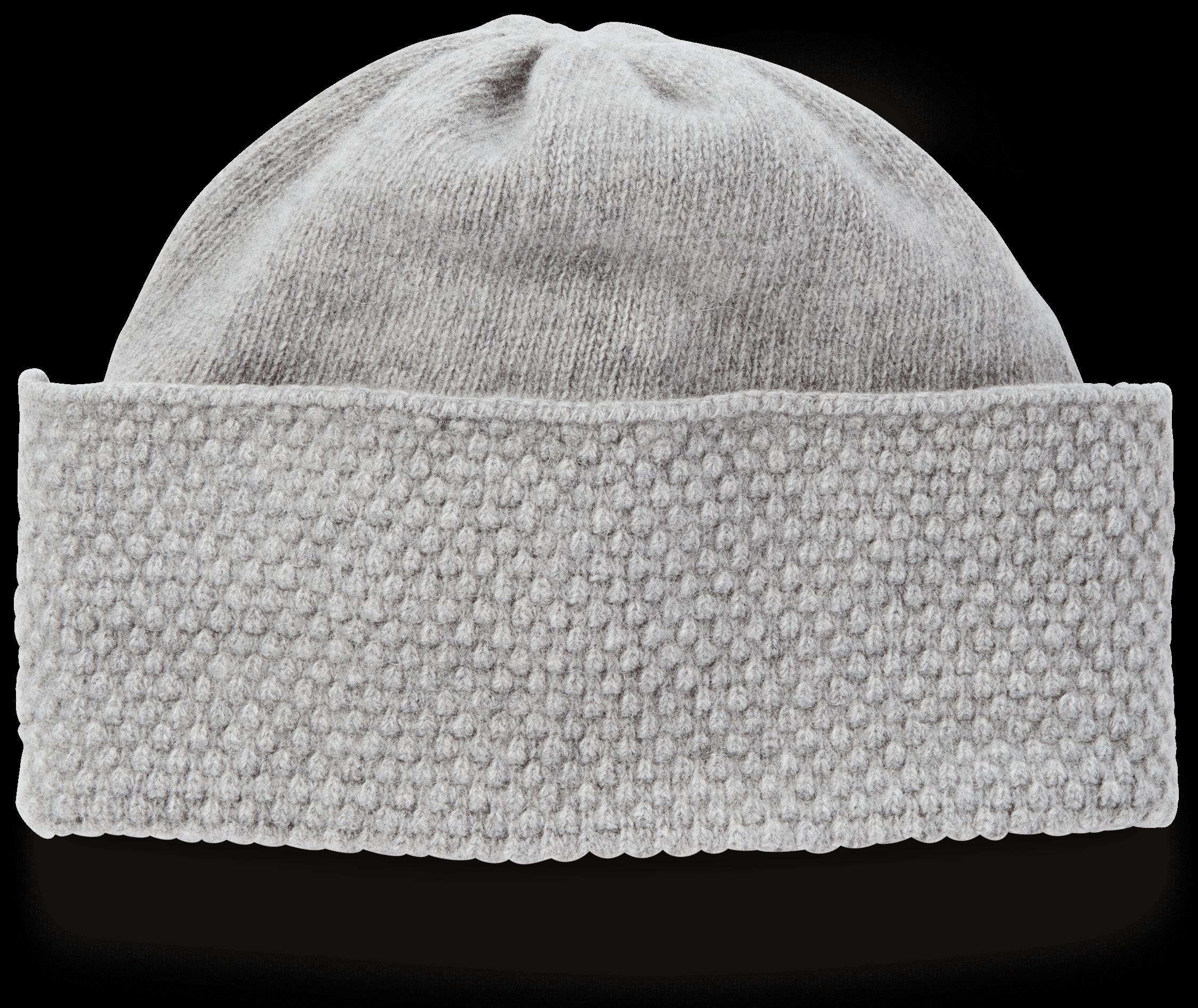 Cashmere Popcorn Knit Hat