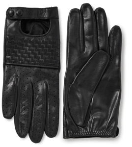 Nappa Woven Leather Driving Gloves image two