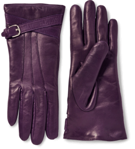 Nappa Leather Buckle Gloves With Cashmere Lining image two