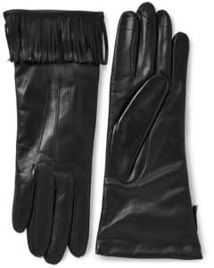 Nappa Leather Fringe Gloves With Cashmere Lining image two