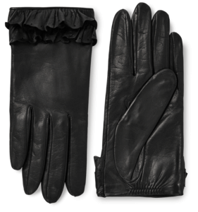 Nappa Leather Gloves With Ruffles image two