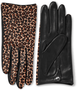 Nappa Leather And Haircalf Gloves image two